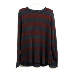 Gap Wide Stripe Red & Gray Sweatshirt Size XL